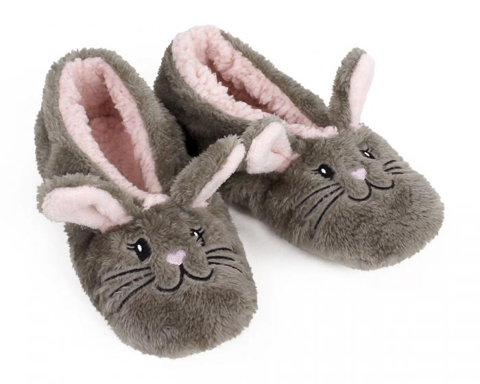 Snuggle Bunny Sock Slippers 3/4 View