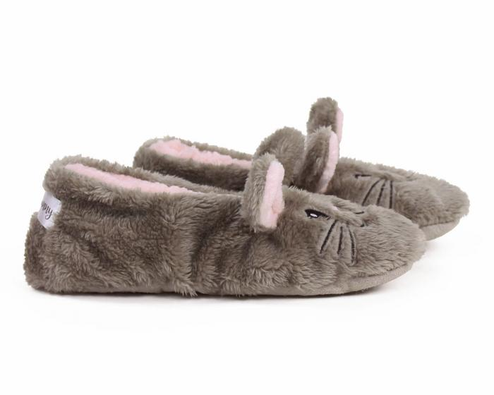 Snuggle Bunny Sock Slippers Side View