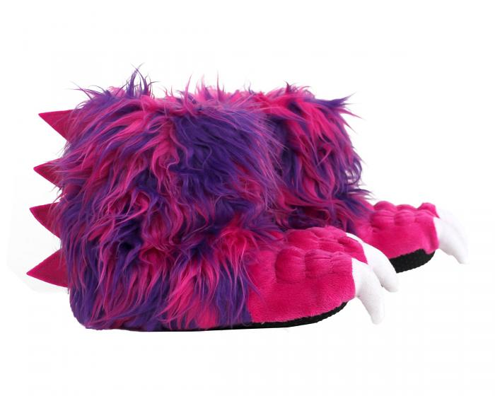Kids Pink Monster Claw Slippers Side View