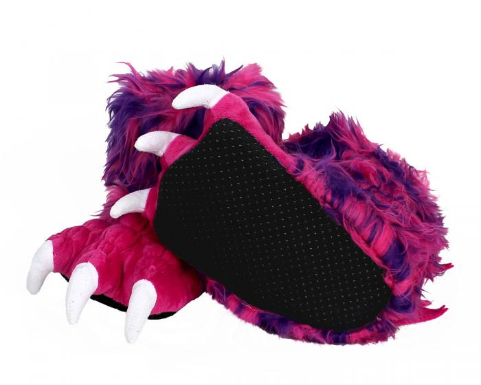 Kids Pink Monster Claw Slippers Bottom View