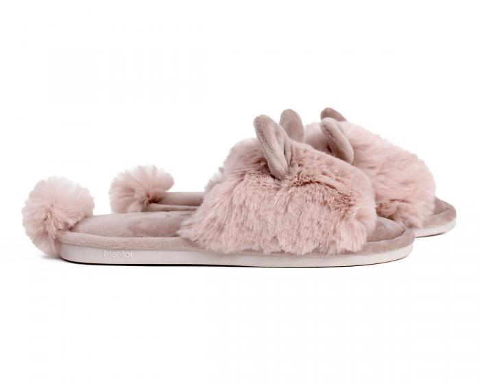 Pink Bunny Hop Slippers Side View