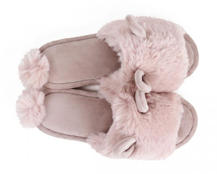Pink Bunny Hop Slippers Top View