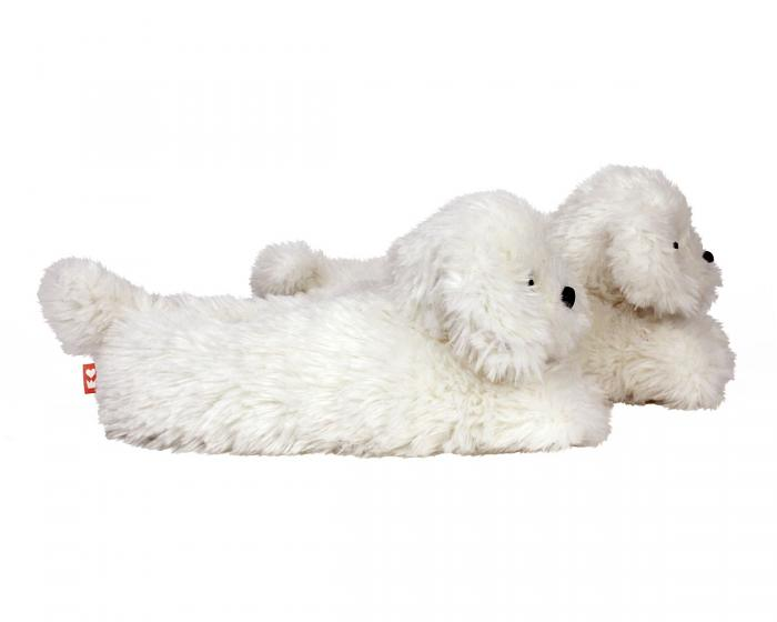 Bichon Frise Slippers Side View