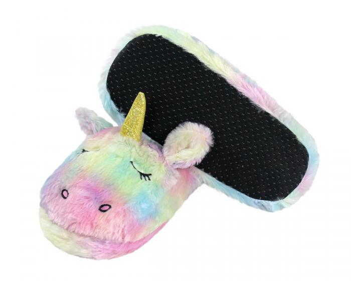 Unicorn Slippers Bottom View