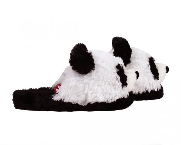 Fuzzy Panda Slippers Side View