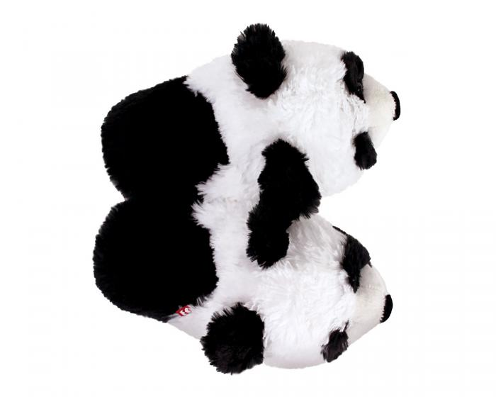 Fuzzy Panda Slippers Top View