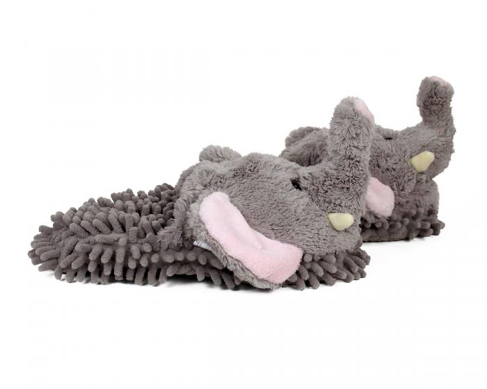 Gray Elephant Slippers Side View