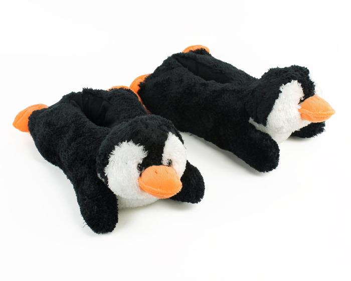 Cozy Penguin Slippers 3/4 View