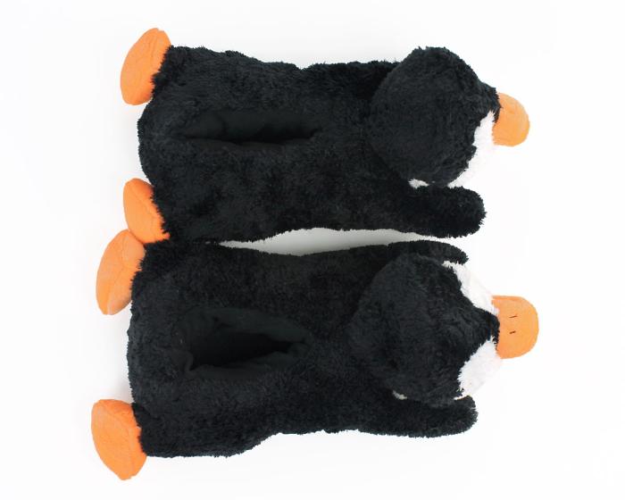 Cozy Penguin Slippers Top View