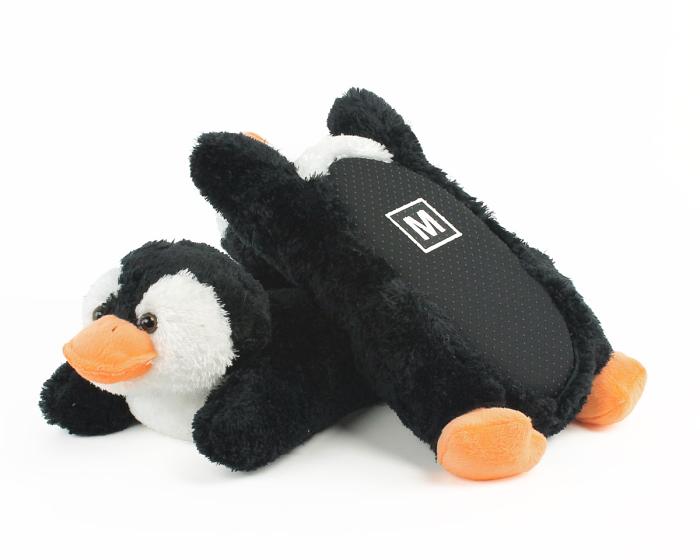 Cozy Penguin Slippers Bottom View