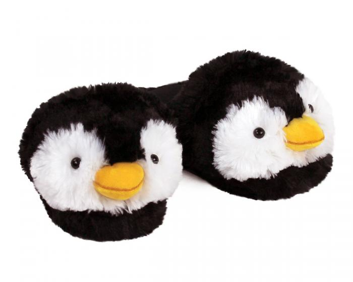 Fuzzy Penguin Slippers 3/4 View