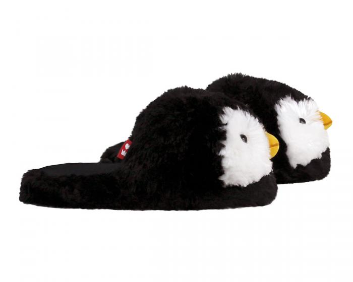 Fuzzy Penguin Slippers Side View