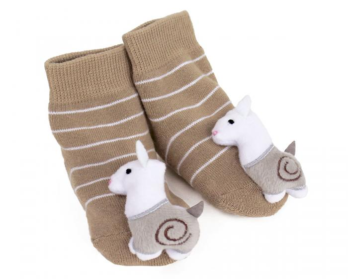 Llama Baby Rattle Socks 3/4 View