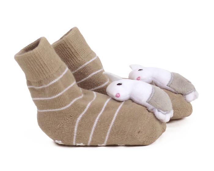 Llama Baby Rattle Socks Side View