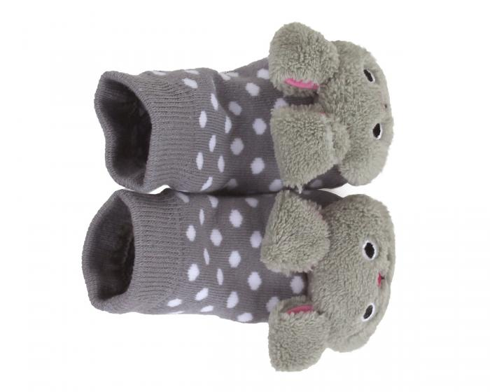 Bunny Baby Rattle Socks Top View