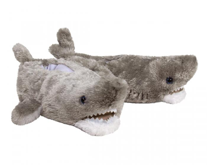 Great White Shark Slippers 3/4 View