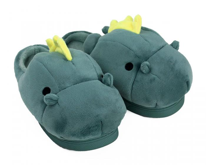 Green Dragon Slippers 3/4 View