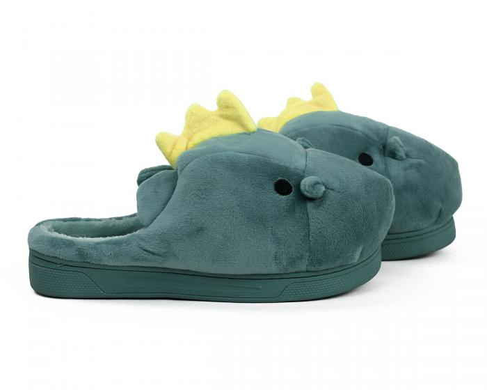 Green Dragon Slippers Side View