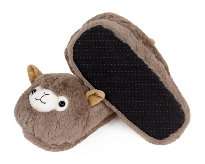 Llama Slippers Bottom View