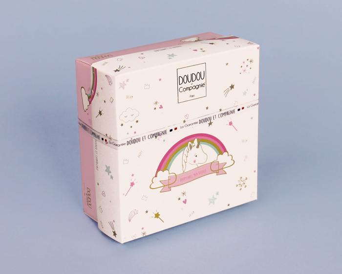 Unicorn Baby Booties Box View 1