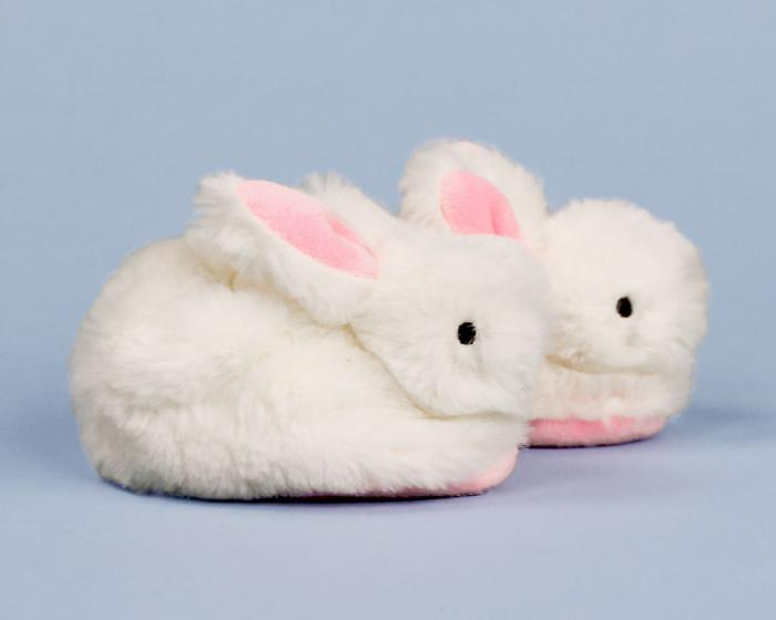 Classic Bunny Baby Booties Side View