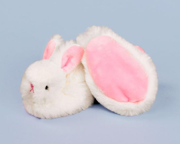 Classic Bunny Baby Booties Bottom View