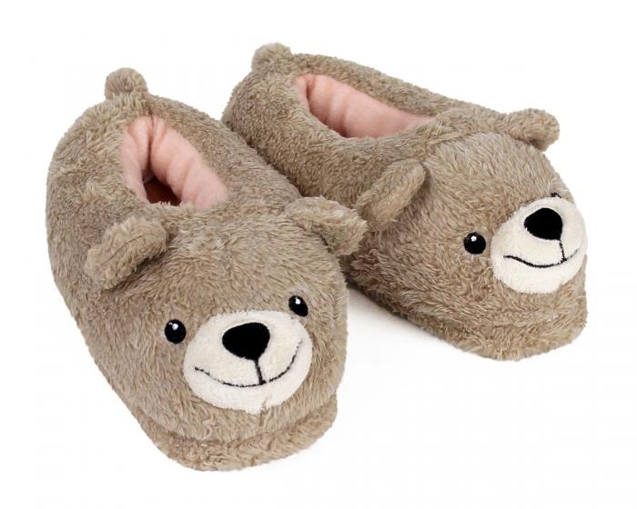 Teddy Bear Slippers 3/4 View