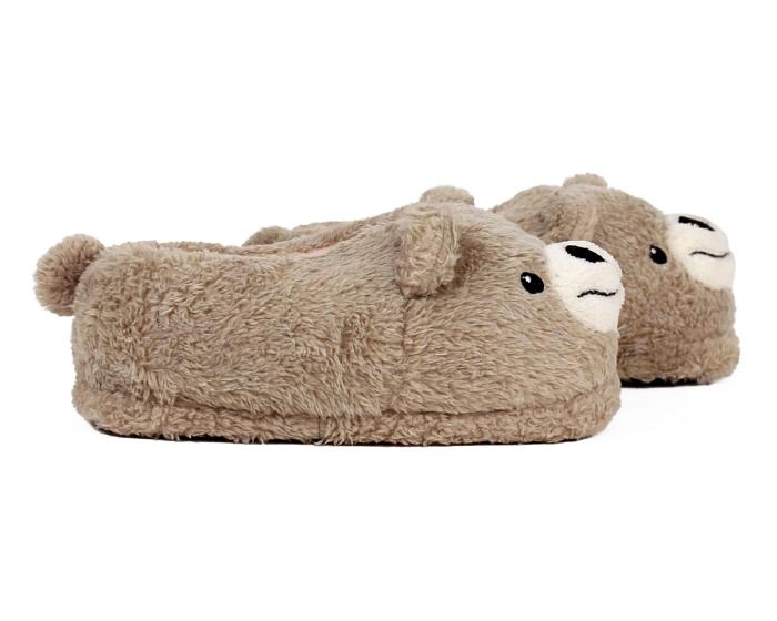 Teddy Bear Slippers Side View