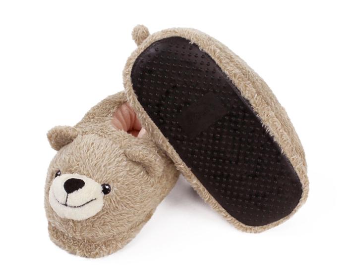Teddy Bear Slippers Bottom View