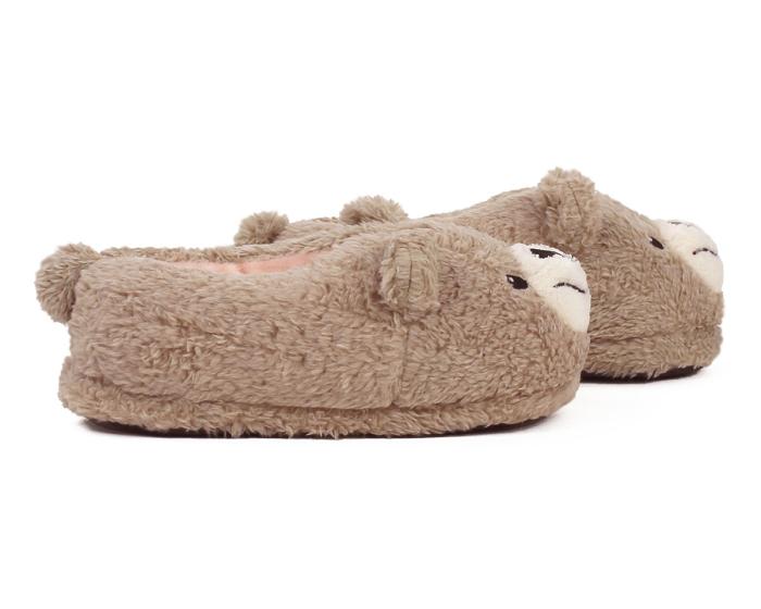 Kids Teddy Bear Slippers Side View