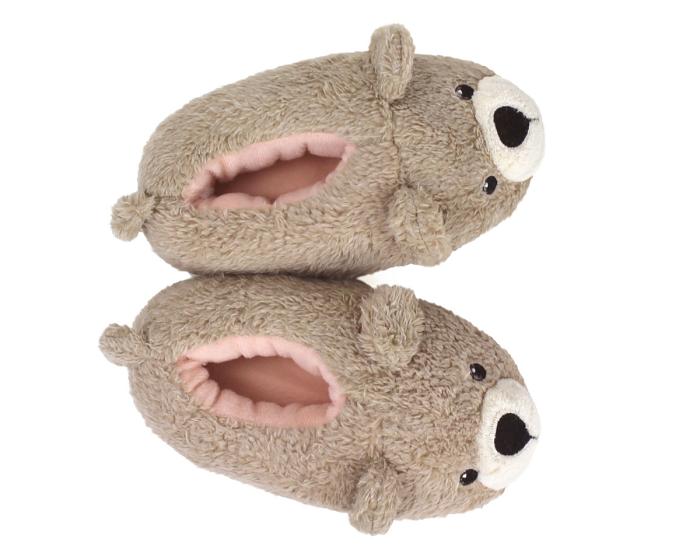Kids Teddy Bear Slippers Top View
