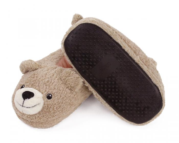 Kids Teddy Bear Slippers Bottom View