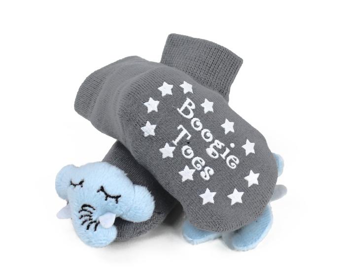 Elephant Baby Rattle Sock Bottom View