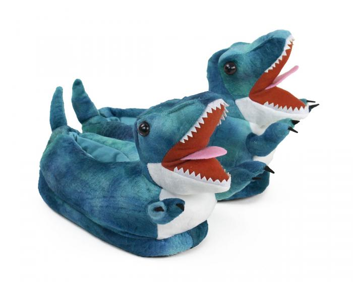 Kids T-Rex Dinosaur Slippers 3/4 View