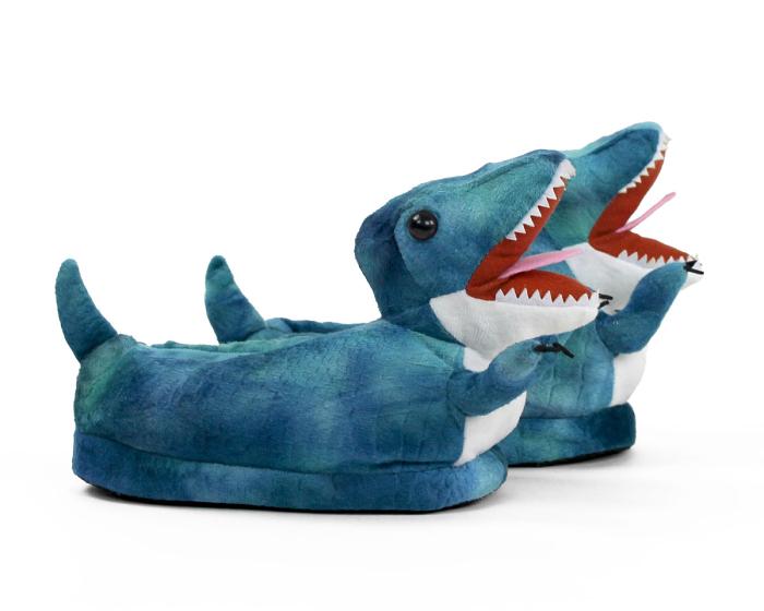 Kids T-Rex Dinosaur Slippers Side View