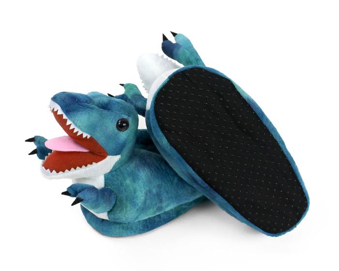 Kids T-Rex Dinosaur Slippers Bottom View