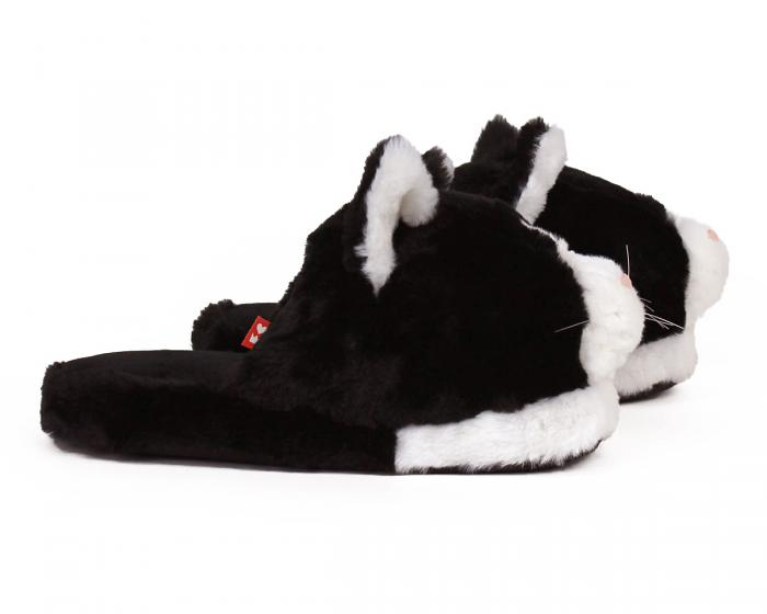 Black And White Kitty Slippers 2
