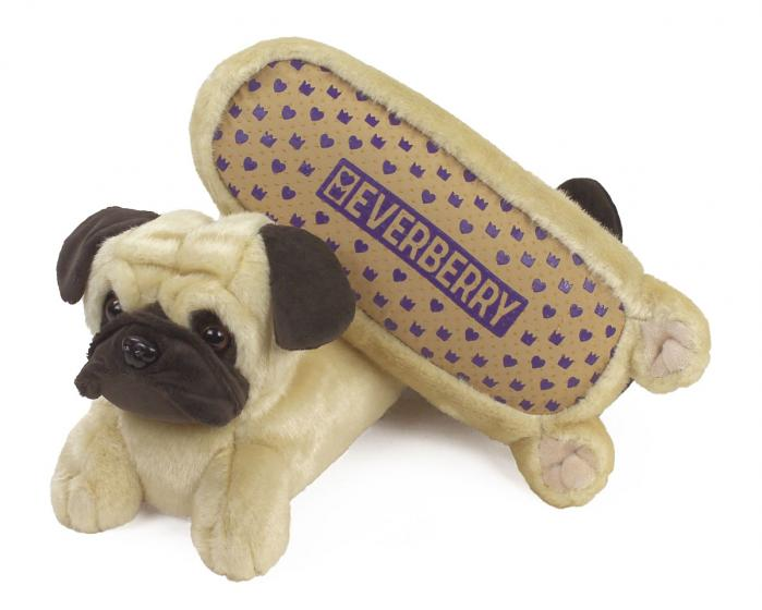 Pug Slippers Bottom View