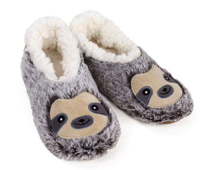 Sloth Sock Slippers 3/4 View