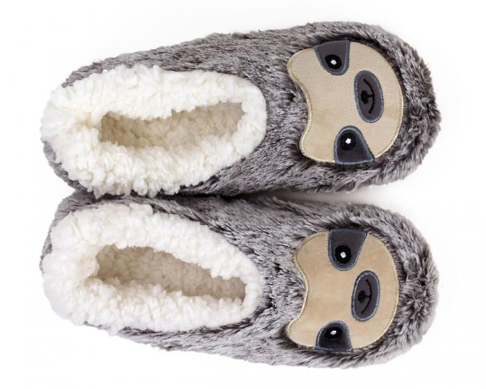 Sloth Sock Slippers Top View