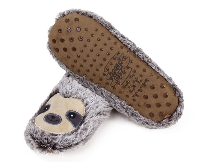 Sloth Sock Slippers Bottom View