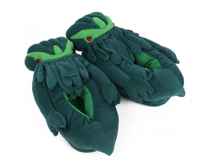 Cthulhu Slippers 3/4 View