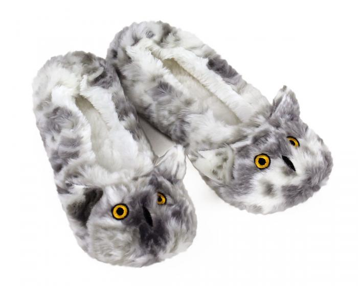 Owl Sock Slippers 3/4 View