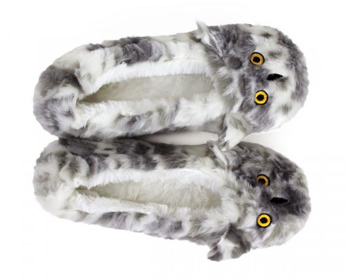 Owl Sock Slippers Top View