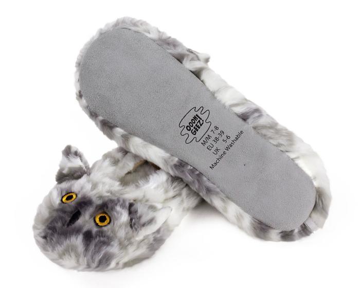 Owl Sock Slippers Bottom View