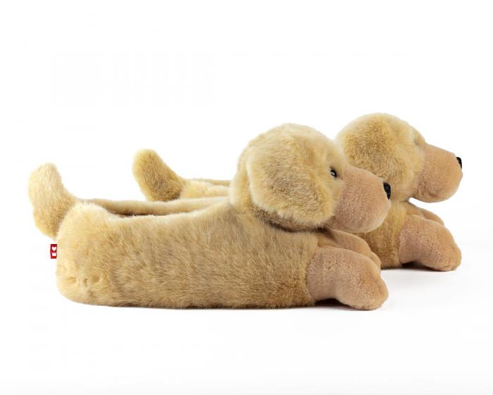 Yellow Lab Slippers Side View
