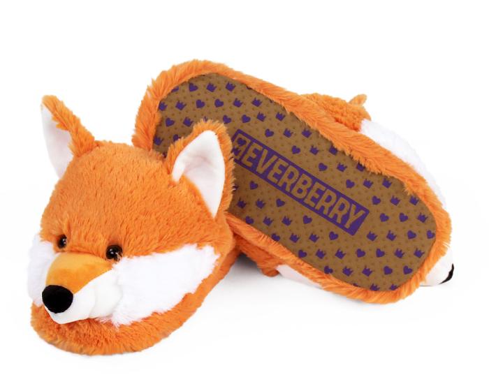 Fox Slippers Bottom View