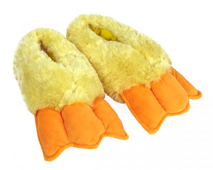 Duck Feet Slippers 3/4 View