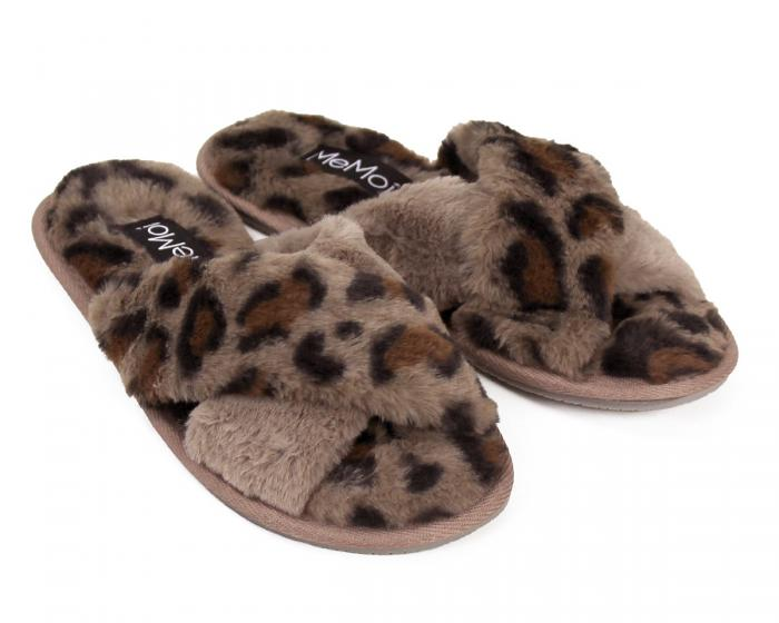 Cheetah Slippers 3/4 View