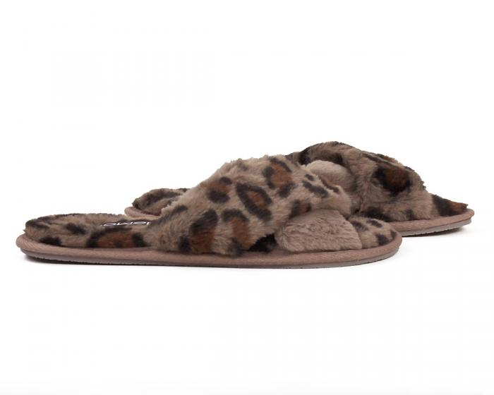 Cheetah Slippers Side View